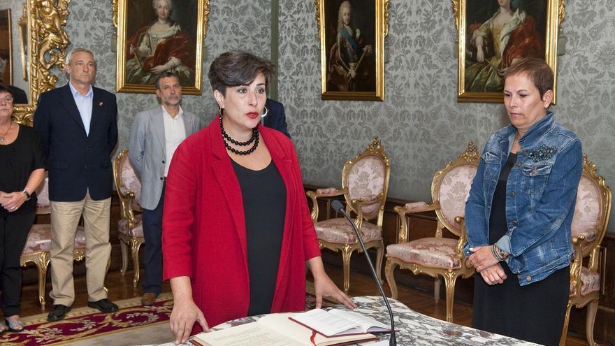 La nueva portavoz del Gobierno de Navarra toma posesión de su cargo