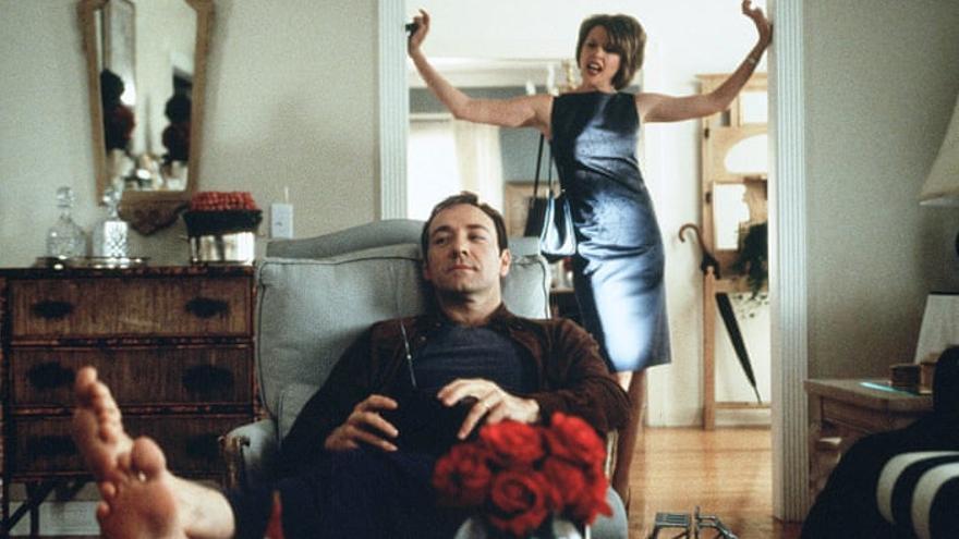 Kevin Spacey y Anette Bening en 'American Beauty'
