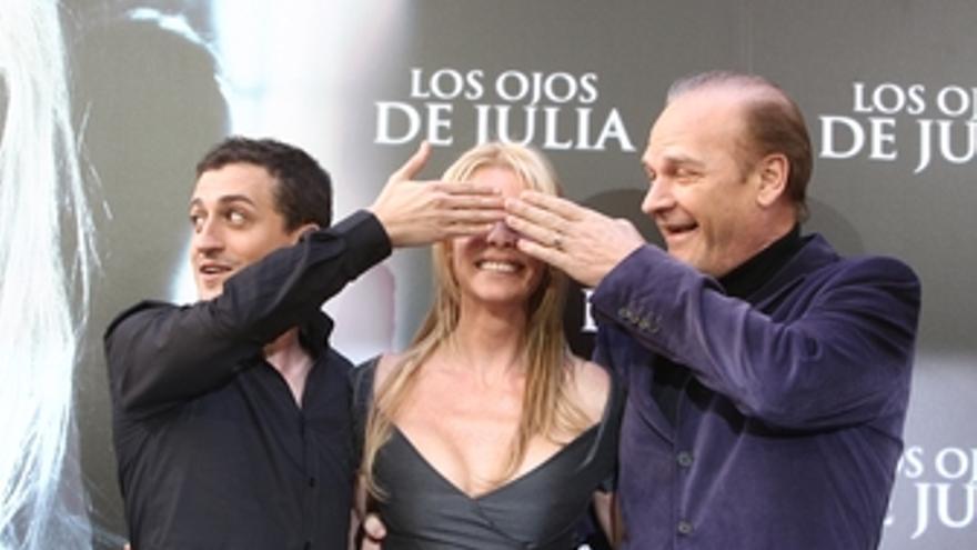 Belén Rueda, Guillem Morales y Lluis Homar