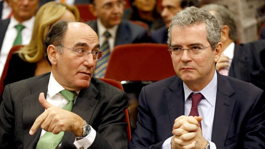 Ignacio Sánchez Galán, CEO de Iberdrola junto a Pablo Isla (abogado del Estado en excedencia), CEO de Inditex.
