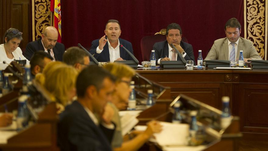 Un pleno de la Diputación de Castellón.