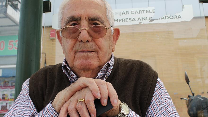 José Pruñonosa (87 años), demandado por la Fundación ProInfancia Queipo de Llano. / JUAN MIGUEL BAQUERO