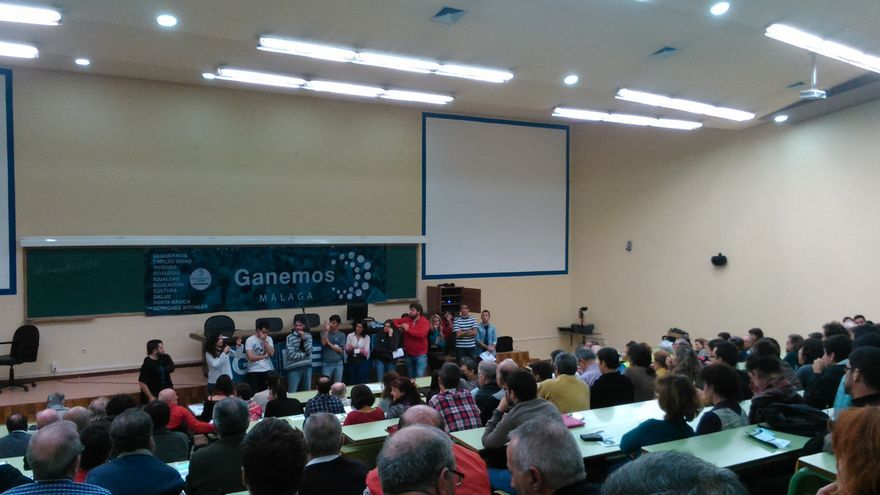 Imagen de una asamblea de Ganemos celebrada en diciembre / N.C.