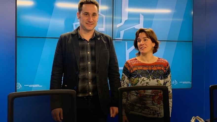 Iker Casanova y Leire Pinedo, en la rueda de prensa