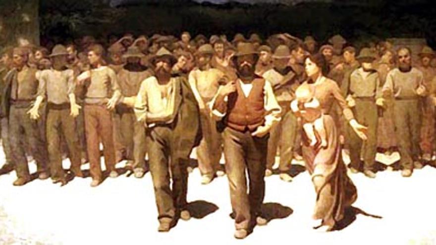 El cuadro recreado en la película 'Novecento'.