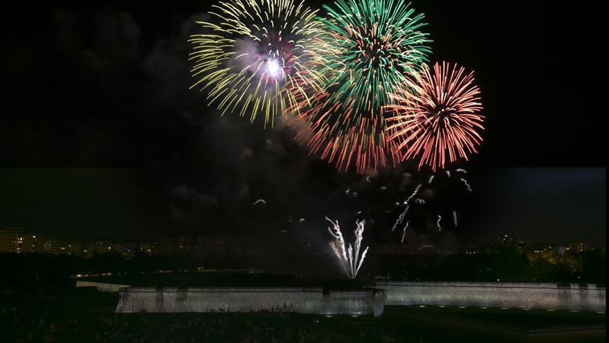 Fuegos artificiales de la colección del 6 de julio, de la Pirotecnia Zaragozana. Foto: cedida.