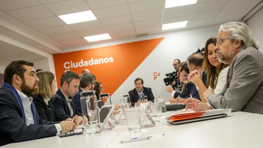 Andrés Betancor, durante una reunión de la Comisión Gestora de Ciudadanos.
