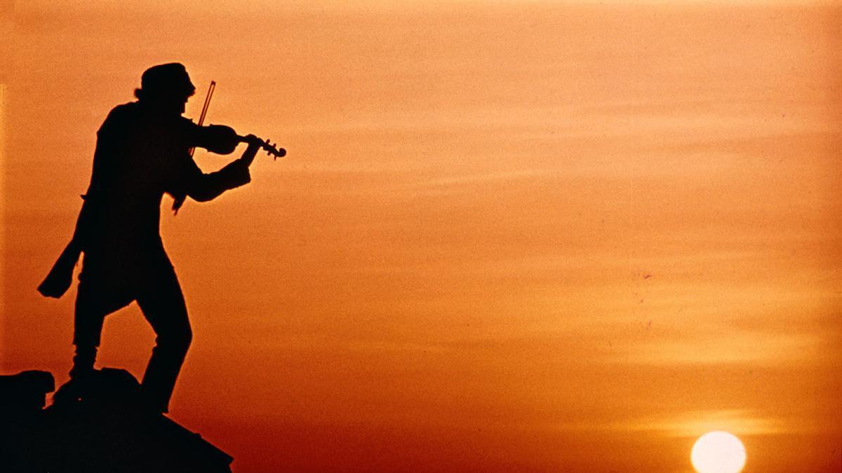 El violinista en el tejado.