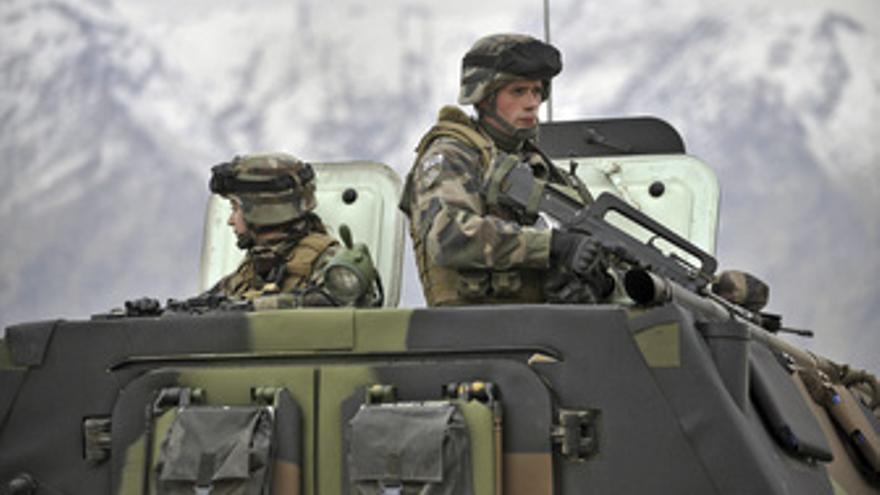 Soldados franceses en Afganistán