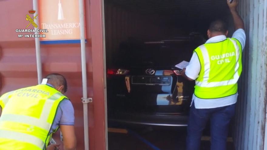 Operación 'Transbordum' llevada a cabo por la Guardia Civil en el Puerto de La Luz.