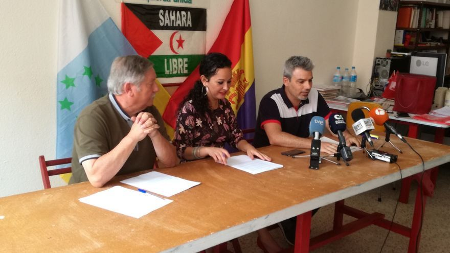 Políticos que dieron la rueda de prensa este jueves, en el norte de Tenerife