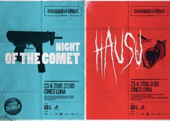 Carteles de las dos películas del Cineshock de abril