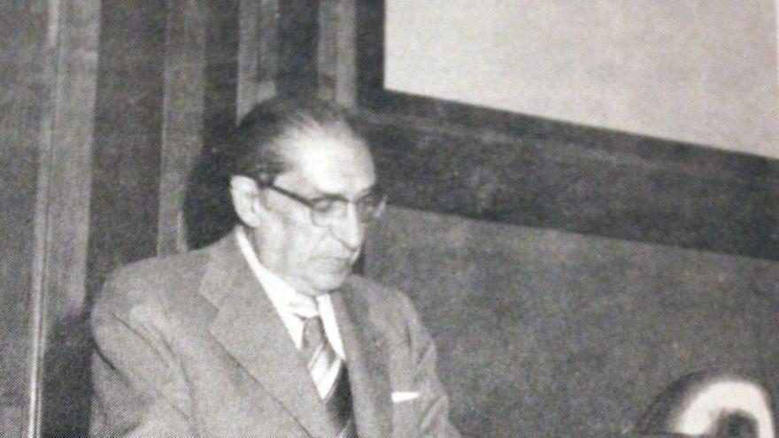 José García Santesmases en la celebración del 25 aniversario del Instituto de Electricidad y Automática
