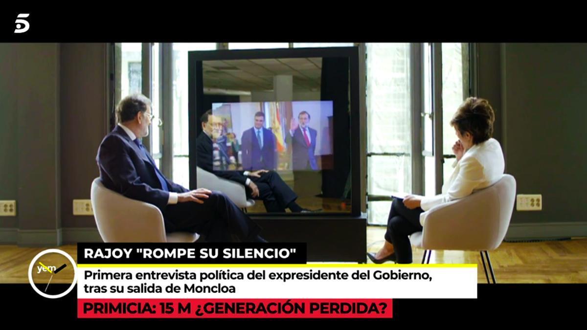 Mariano Rajoy ante Sonsoles Ónega