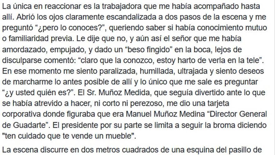 Comunicado de Teresa Rodríguez segunda parte