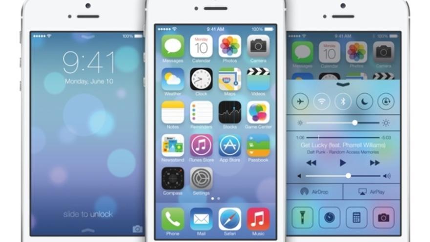Las formas planas y sencillas son la nueva cara de iOS 7