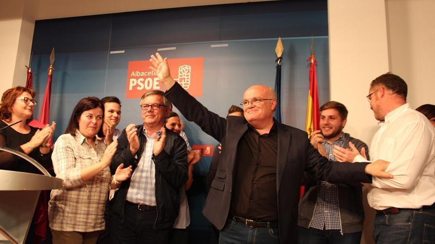 Presentación de la candidatura de Pedro Antonio Ruiz Santos en la Casa del Pueblo de Albacete.