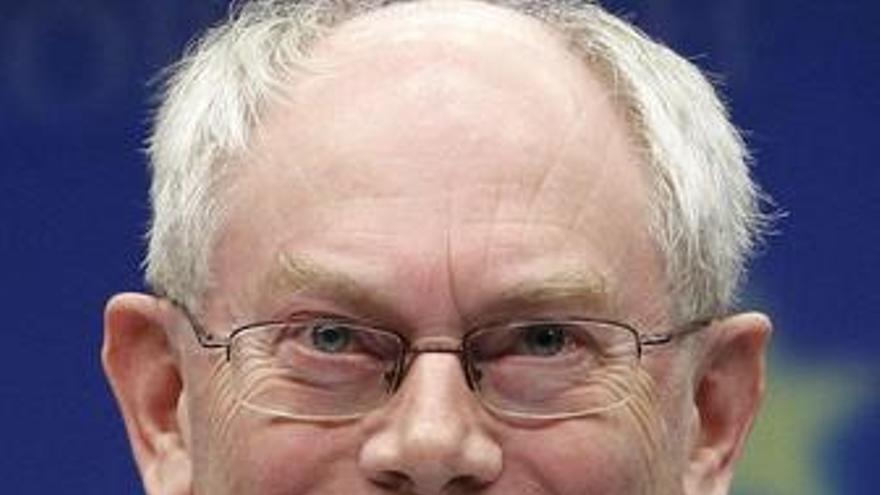 El presidente permanente del Consejo Europeo, Herman Van Rompuy