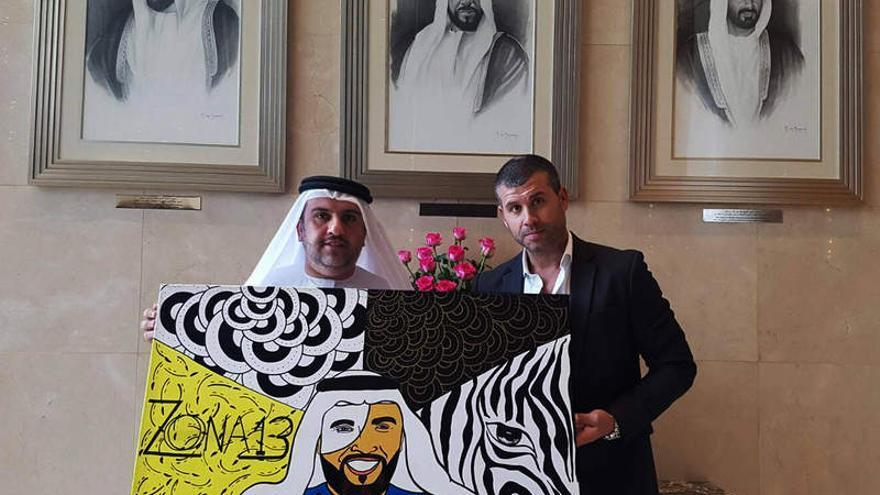 El inversor árabe Al Fahim junto a Samuel Yebra, cuando pretendía comprar el Gran Canaria.