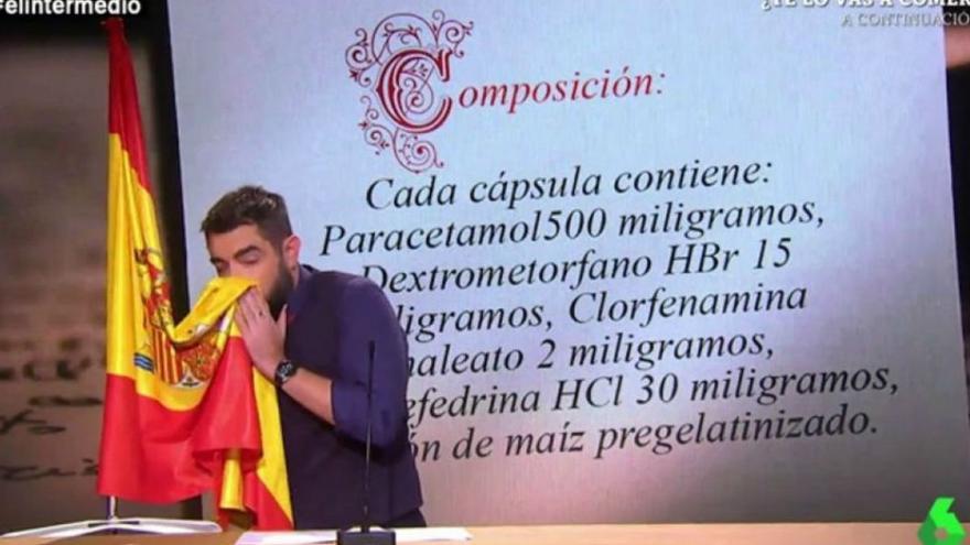 Dani Mateo, en el sketch de 'El Intermedio' que le ha llevado ante el juez | LASEXTA.TV