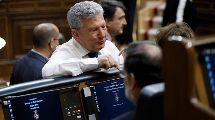 El diptuado de Nueva Canarias, Pedro Quevedo, en el Pleno del Congreso