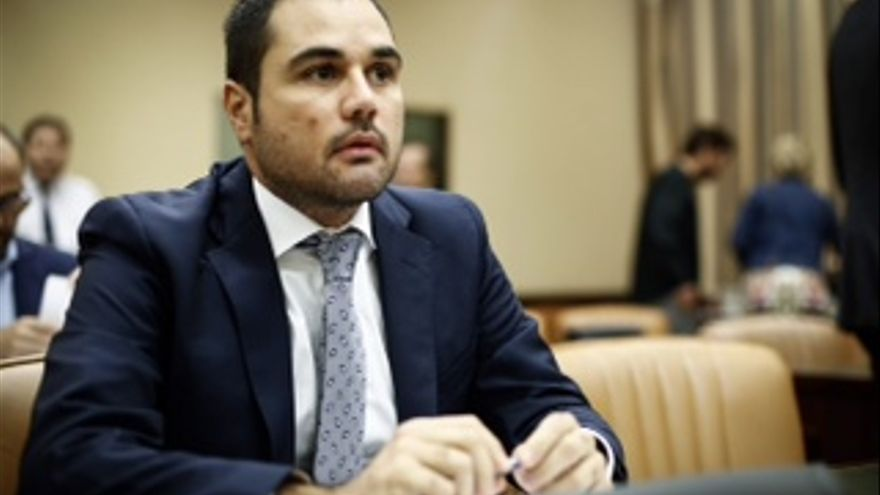 El diputado de Ciudadanos Rodrígo Gómez, portavoz de Cultura y Deportes