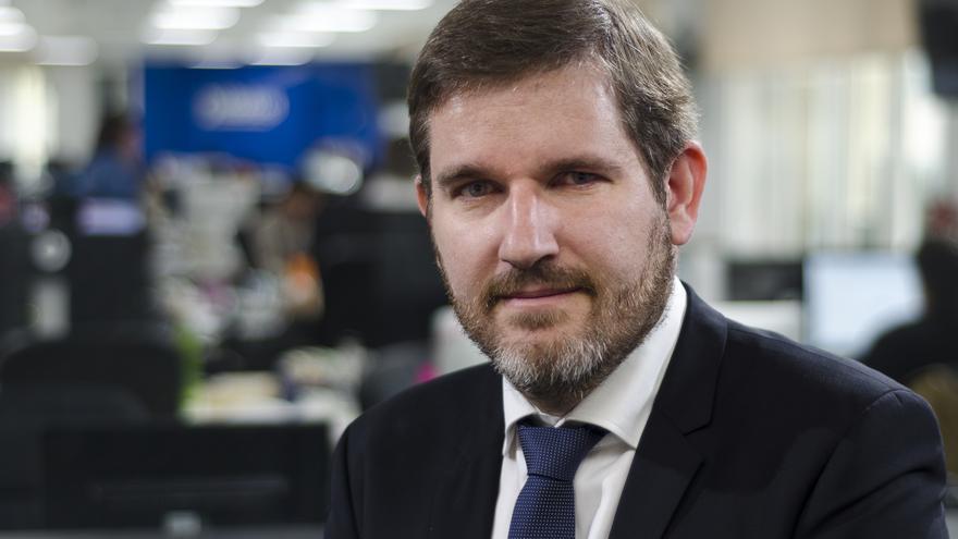 Ignacio Urquizu, número uno de la lista del PSOE en Teruel \ Foto: Alejandro Navarro Bustamante