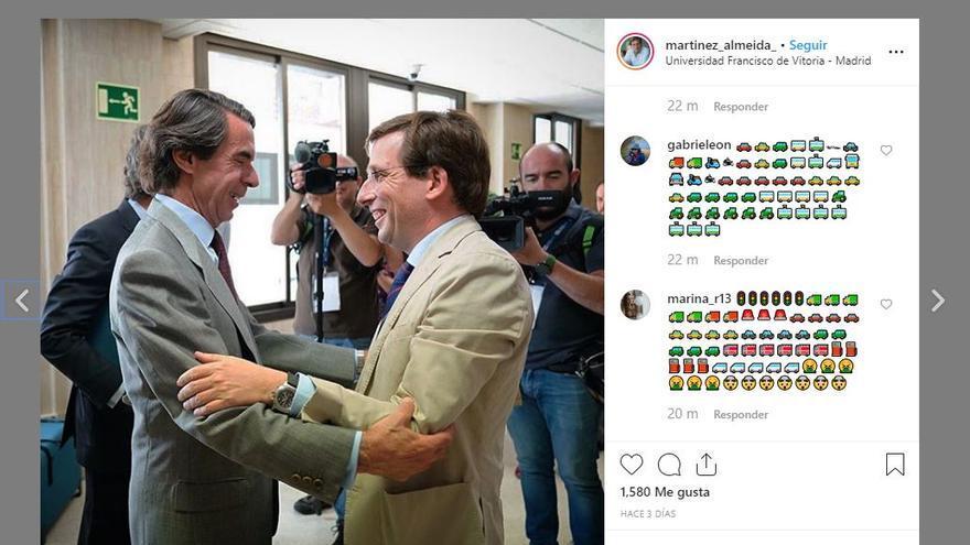 El Instagram de Martínez-Almeida se llena de atascos