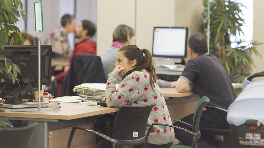 Imagen de archivo de una oficina pública de empleo