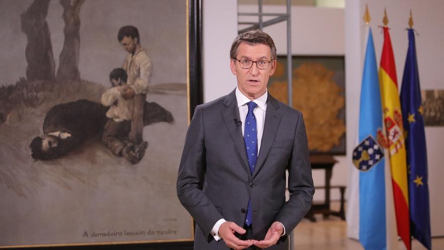 """Feijóo carga contra el desafío independentista y asegura que Galicia """"no va a callar"""" ante ataques a la Constitución"""