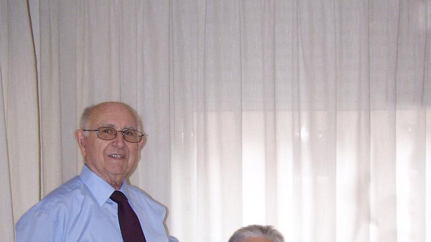Elisa junto a su marido Ginés, en una foto tomada en el año 2008.