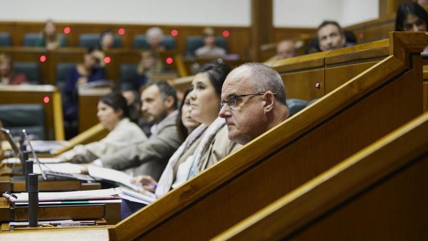Joseba Egibar, en la bancada del PNV en el Parlamento Vasco