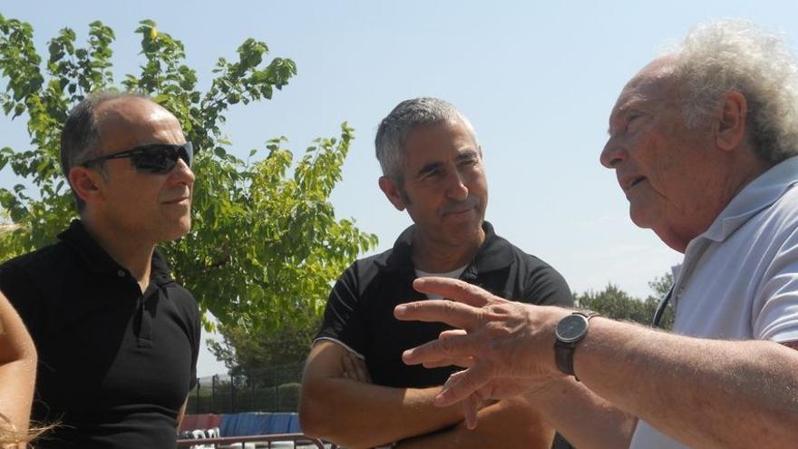 En la imagen, Andrés Sanfiel, Chicho Lorenzo y Eduard Punset (de izquierda a derecha).
