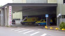 Vista de la entrada de Urgencias del hospital Álvaro Cunqueiro de Vigo.