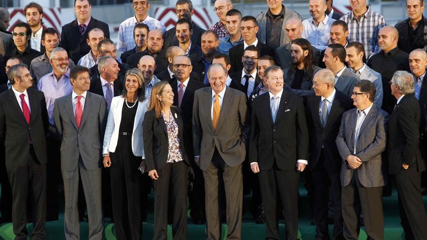 El rey inaugura la terminal de contenedores más avanzada del Mediterráneo