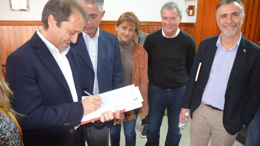 Visita de Juan Luis Gordo a La Aldea.Visita de Juan Luis Gordo a La Aldea.