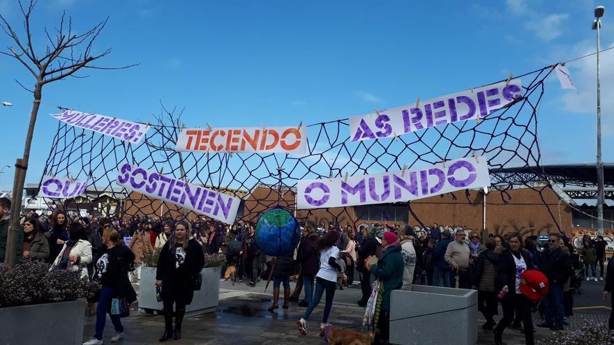 Manifestación del 8 de marzo en A Coruña.