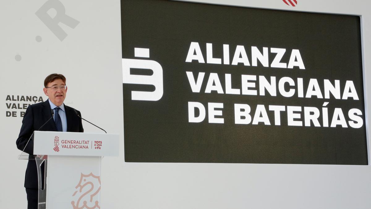 El president de la Generalitat Valenciana, Ximo Puig, durante su intervención.