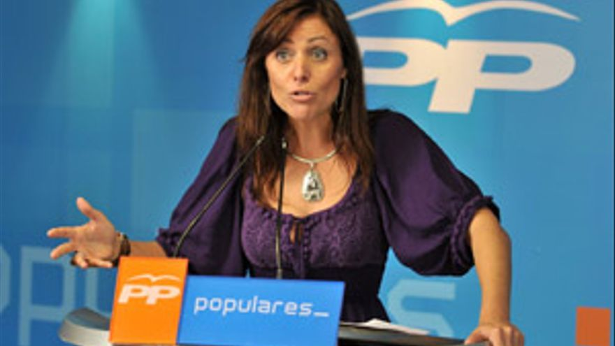La presidenta del PP en Santa Cruz de Tenerife, Cristina Tavío.