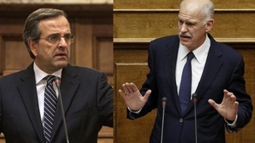 Samaras Y Papandreu