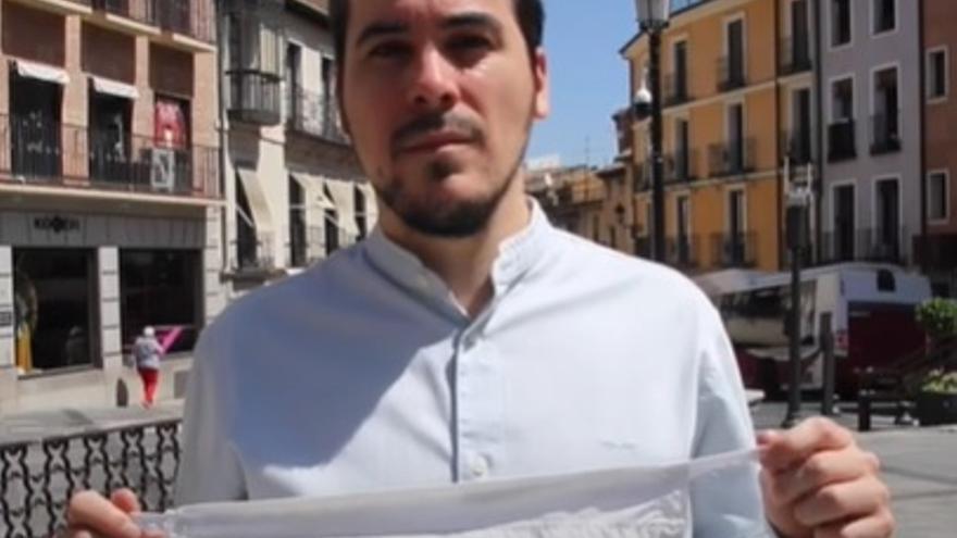 El precandidato a liderar Podemos Castilla-La Mancha, José Luis García Gascón