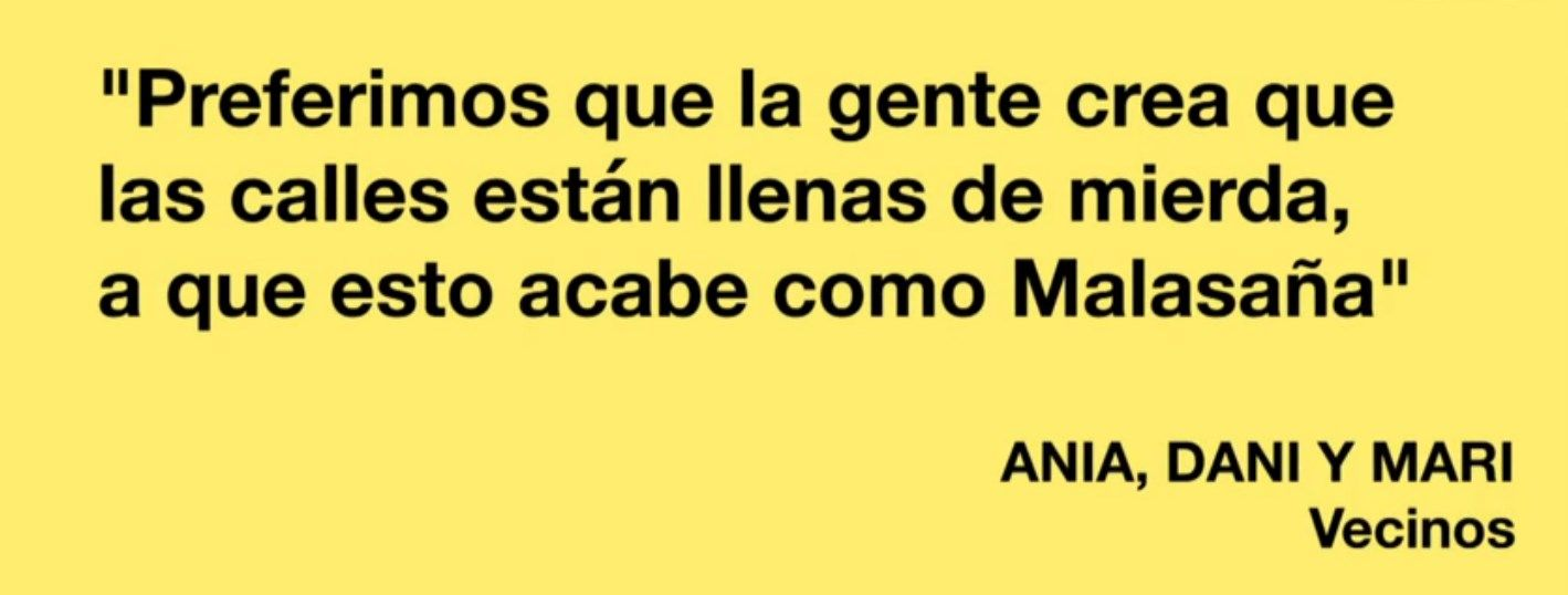 Una de las frases que ilustra el vídeo de El País