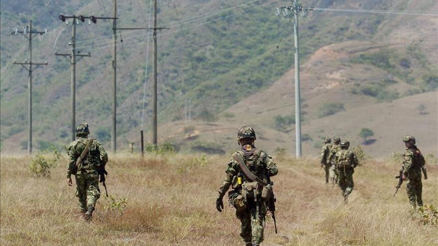 Mueren siete guerrilleros de las FARC en combates con el Ejército colombiano