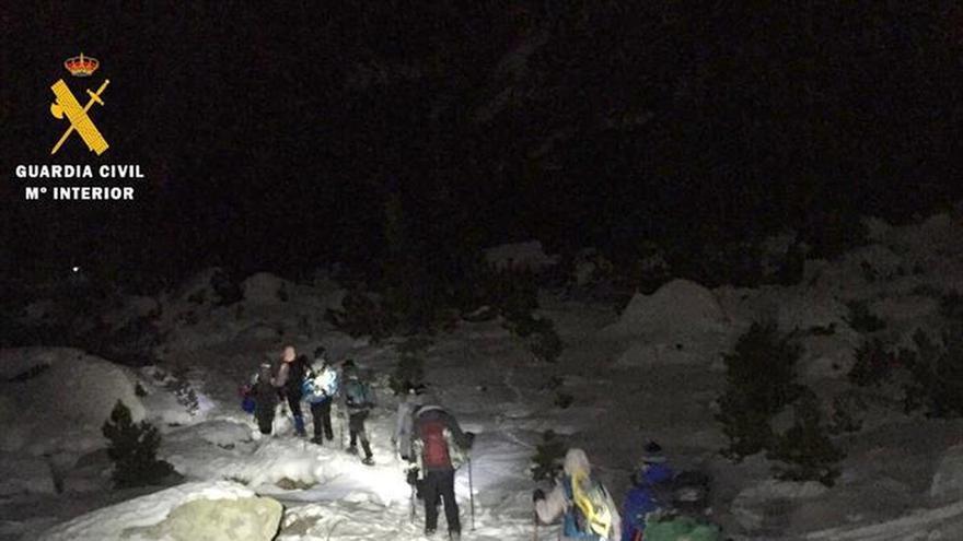 Evacuado un grupo de 9 jóvenes catalanes extraviados en el Pirineo de Huesca