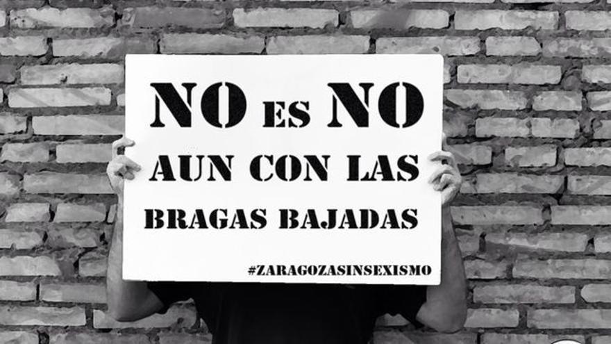 Imagen de la campaña de Unizar y Asamblea Feminista