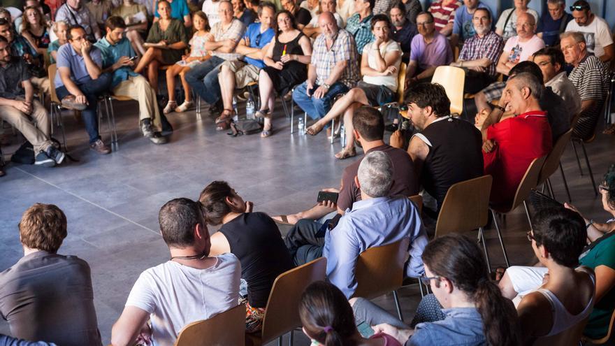 Primera asamblea de Ahora Aragón en Común. Foto: Juan Manzanara.