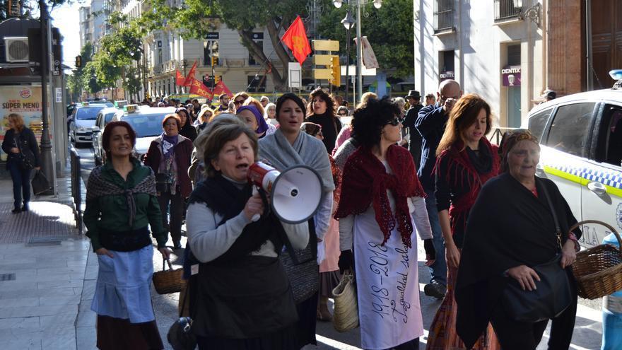 Marcha en homenaje a las faeneras malagueñas | N.C.