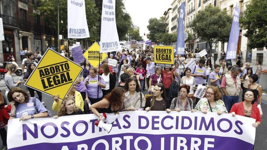 Organizaciones y mujeres se citan en Madrid contra la reforma del aborto