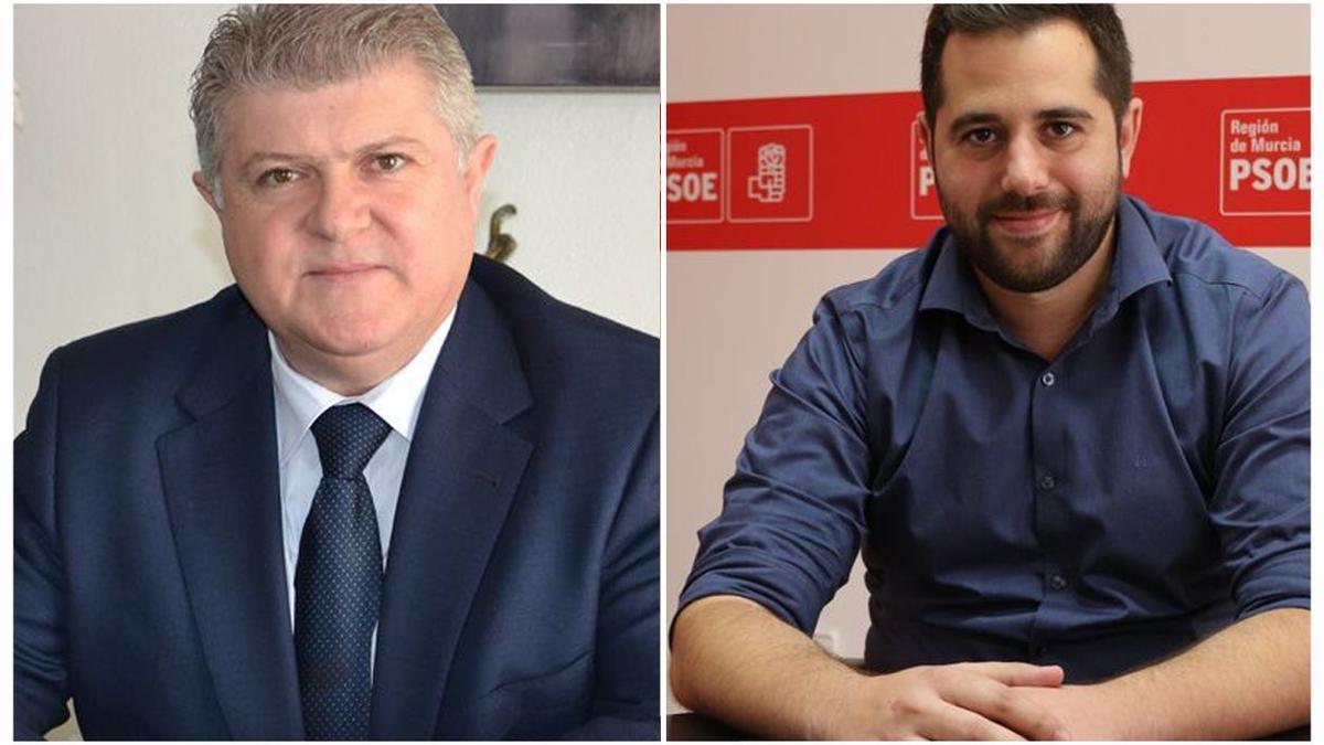 Pepe Vélez, delegado del Gobierno en Murcia, y Jordi Arce, secretario de organización del PSOE-PSRM