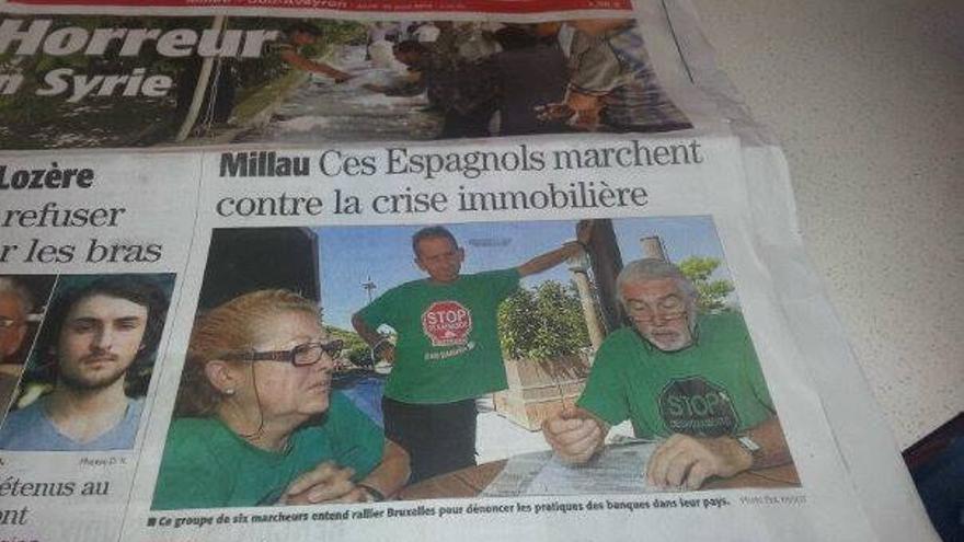La marcha en la prensa francesa